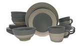 Clef - 16 piece place setting - Dark Grey