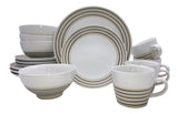 Clef - 16 piece place setting - White with black