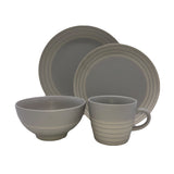 Clef - 4 piece place setting - Light Grey
