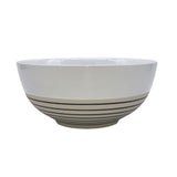 Clef Salad bowl - White with Black - Set of 2