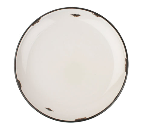 Tinware Dinner Plate in Light Grey