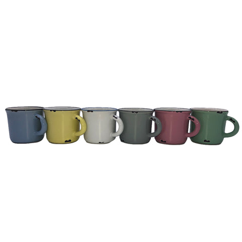 Tinware Espresso Mug in Light Grey