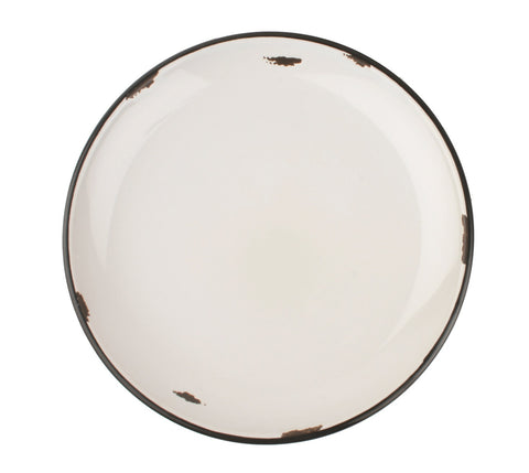 Tinware Salad Plate in Light Grey