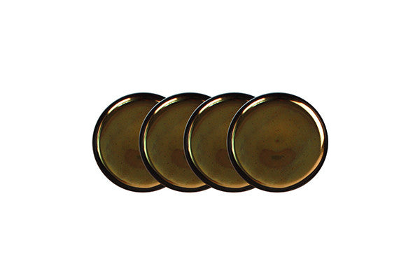 Dauville Charcoal Coasters Gold