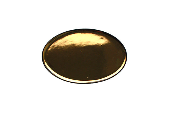 Dauville Charcoal Oval Platters in Gold