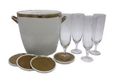 Canvas Home Champagne Set in Gold