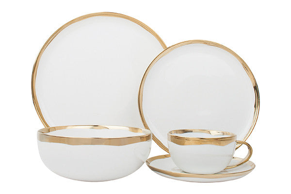 Dauville Gold - 5 Piece Place Setting, Service for 1