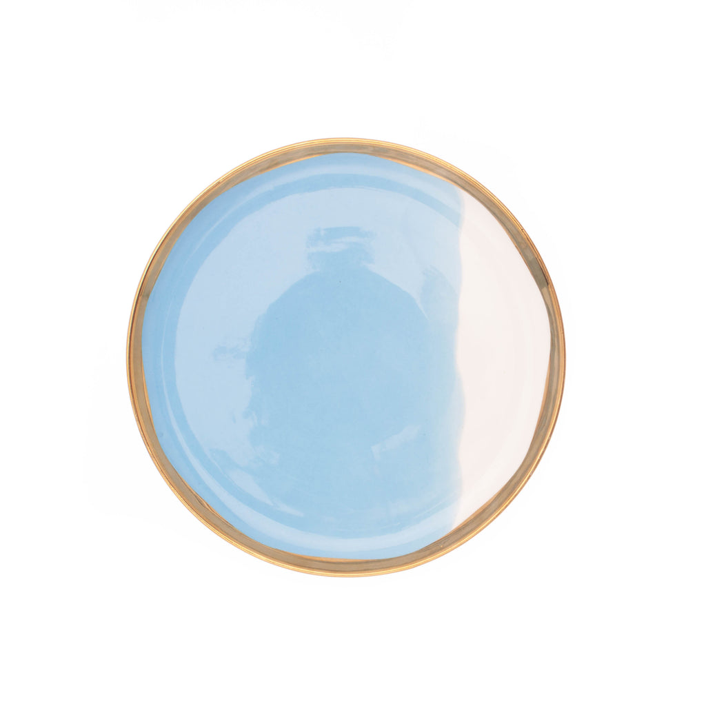 Dauville Bleu Salad Plate - Set of 4