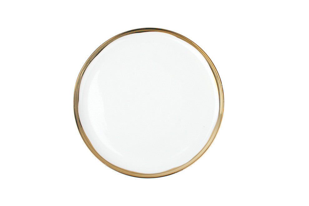 Dauville Gold Salad Plate - Set of 4
