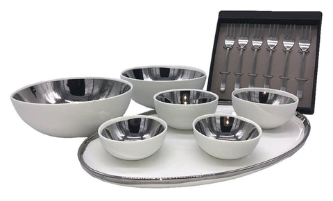 Canvas Home Appetizer Set in Platinum