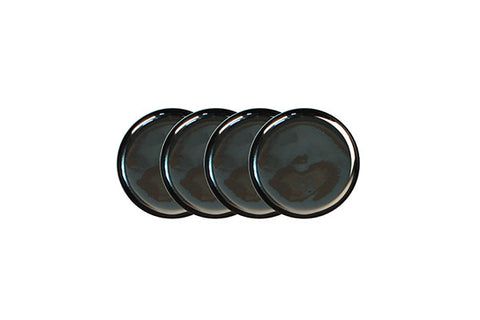 Dauville Charcoal Coasters Platinum - Set of 4