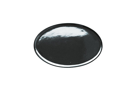 Dauville Charcoal Oval Platter in Platinum