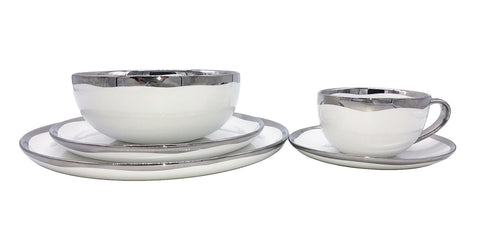 Dauville Platinum-5 Piece Place Setting, Service for 1