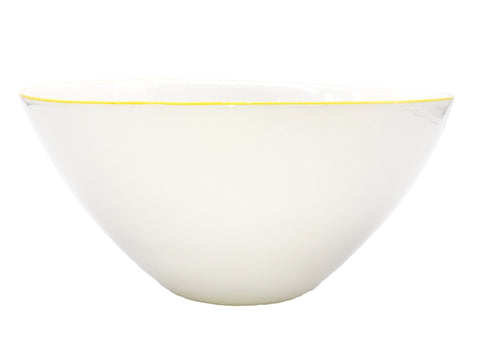 Abbesses Large Bowl in Yellow Rim - Set of 2