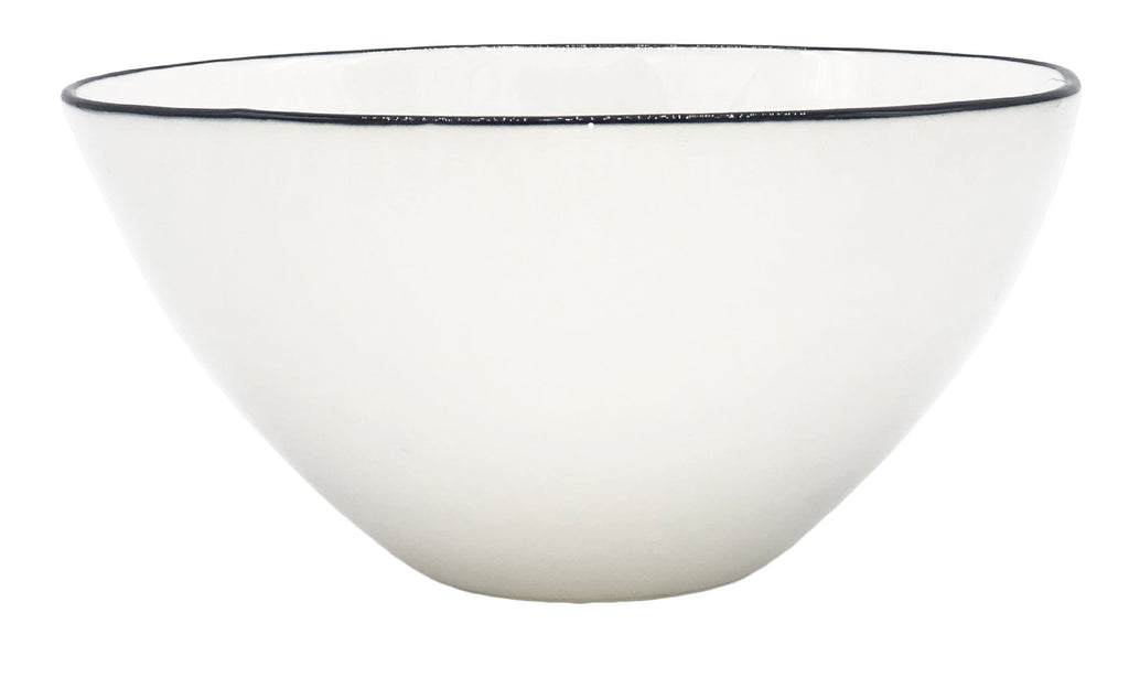 Abbesses Medium Bowl in Black Rim - Set of 4