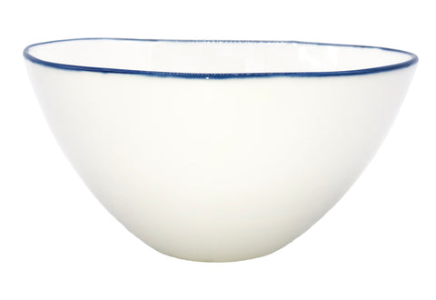 Abbesses Medium Bowl in Blue Rim  - Set of 4