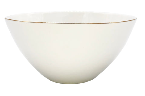 Abbesses Medium Bowl in Gold Rim - Set of 4