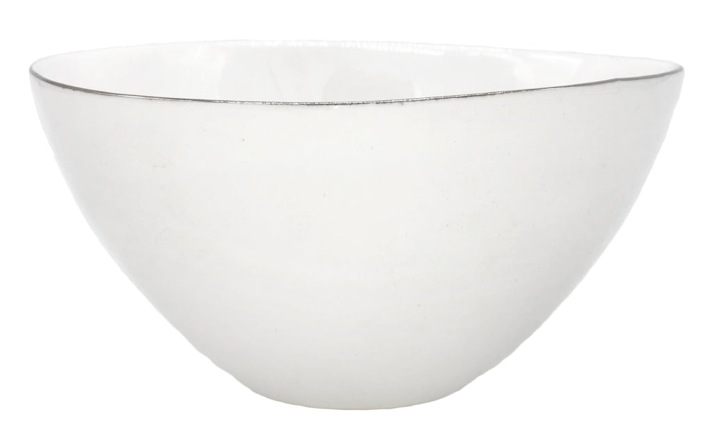 Abbesses Medium Bowl in Platinum Rim - Set of 4