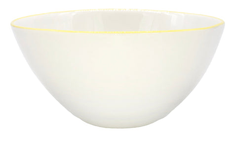 Abbesses Medium Bowl in Yellow Rim - Set of 4