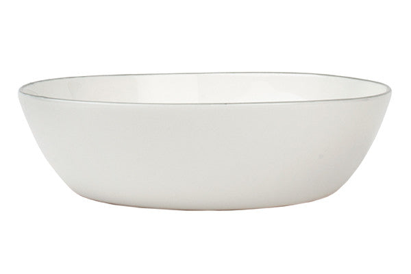 Abbesses Pasta Bowl in Grey Rim - Set of 4