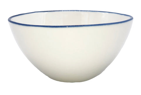 Abbesses Small Bowl in Blue Rim - Set of 4