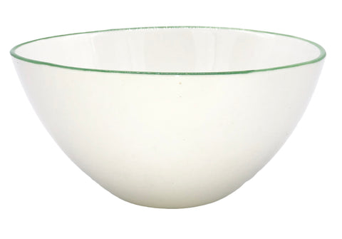 Abbesses Small Bowl in Green Rim - Set of 4