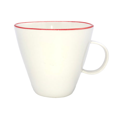 Abbesses Cup in Red Rim - Set of 4