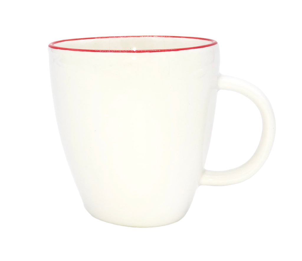 Abbesses Espresso Cup in Red Rim - Set of 4