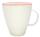 Abbesses Mug in Red Rim - Set of 4