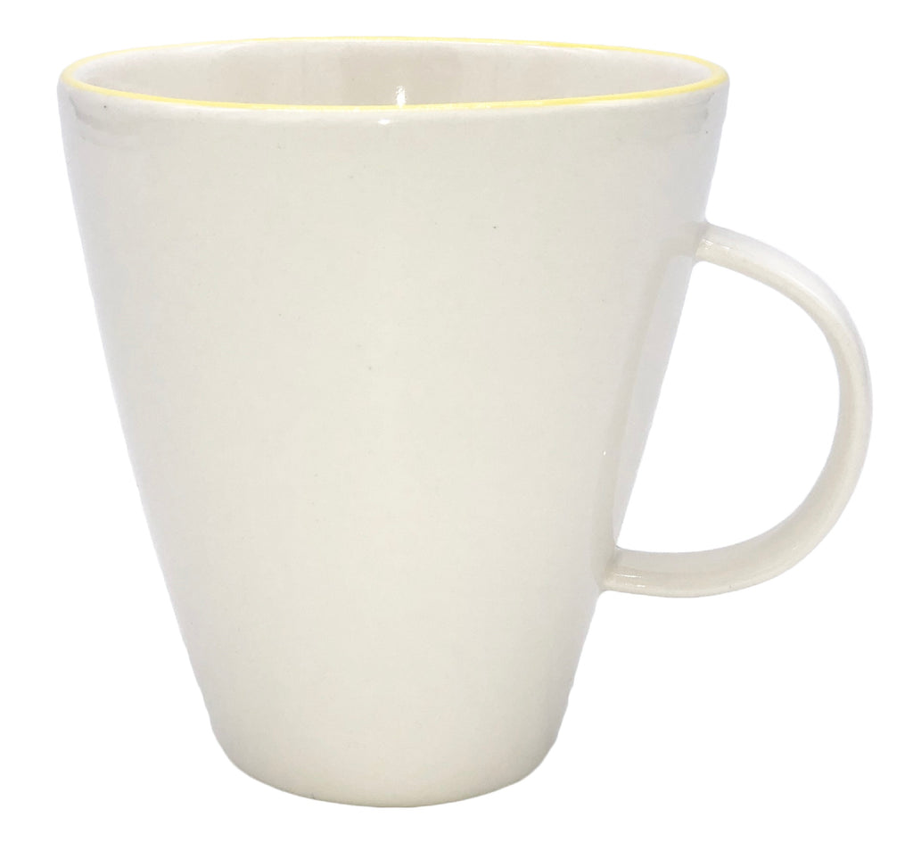 Abbesses Mug in Yellow Rim - Set of 4