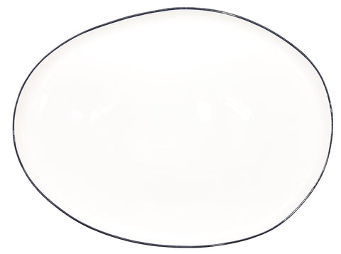 Abbesses Small Platter in Black Rim