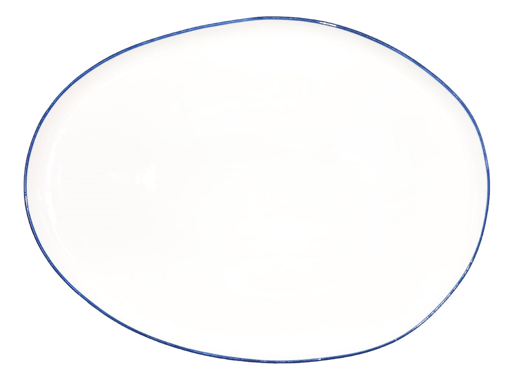 Abbesses Small Platter in Blue Rim