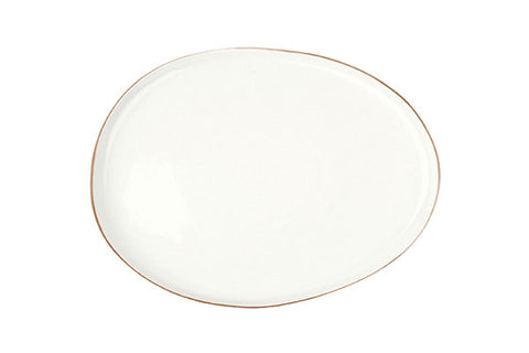 Abbesses Small Platter in Gold Rim