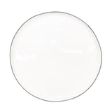 Abbesses Large Plate in Grey Rim - Set of 4