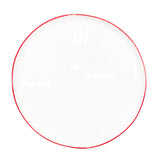 Abbesses Large Plate in Red Rim - Set of 4