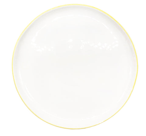 Abbesses Medium Plate in Yellow Rim - Set of 4