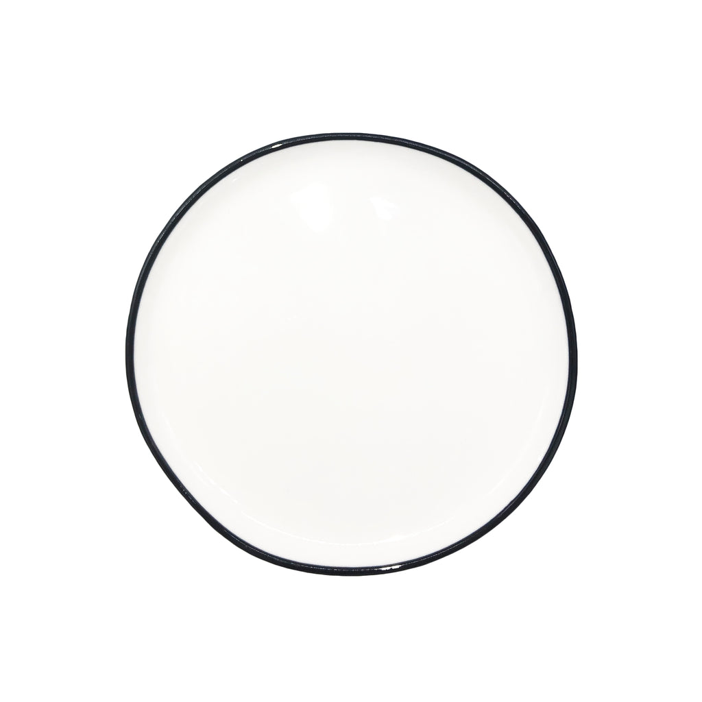 Abbesses Small Plate in Black Rim - Set of 4