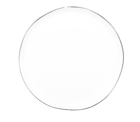 Abbesses Small Plate in Platinum Rim - Set of 4