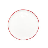 Abbesses Small Plate in Red Rim - Set of 4