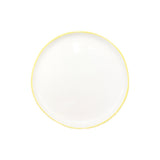 Abbesses Small Plate in Yellow Rim - Set of 4