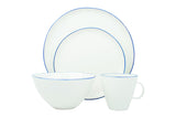 Abbesses 4-piece place setting - Blue Rim