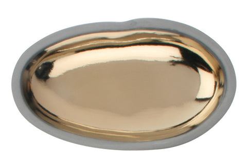 Large Gold Pebble Dish - White Body