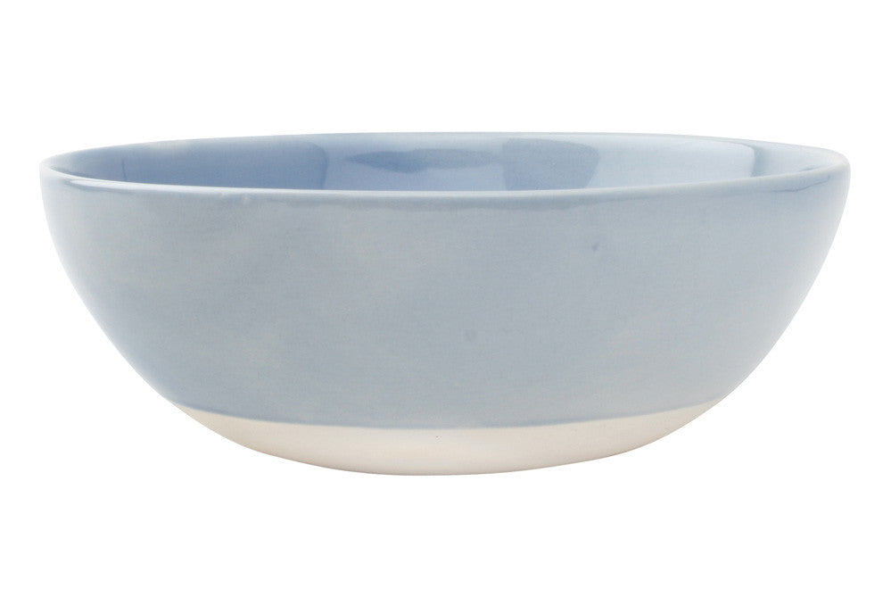 Shell Bisque Cereal Bowl in Blue - Set of 4
