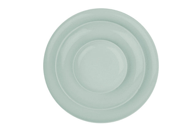 Shell Bisque Tidbit Plate in Mist - Set of 4