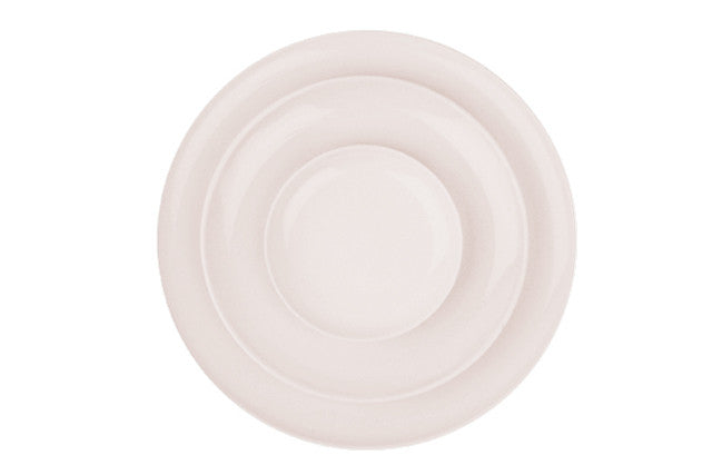 Shell Bisque Tidbit Plate in Soft Pink - Set of 4