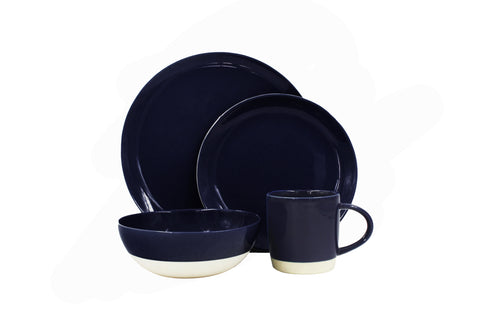 Shell Bisque Cereal Bowl in Indigo - Set of 4