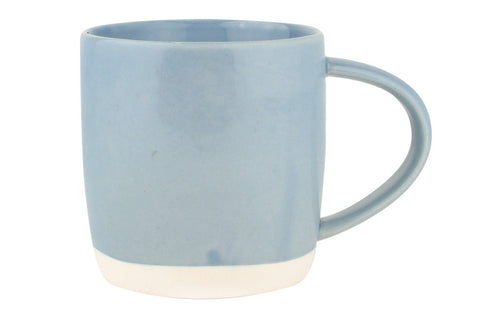 Shell Bisque Mug in Blue - Set of 4