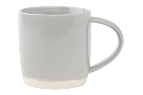 Shell Bisque Mug in Grey - Set of 4