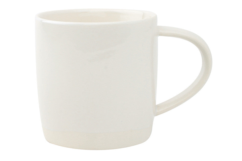Shell Bisque Mug in White - Set of 4