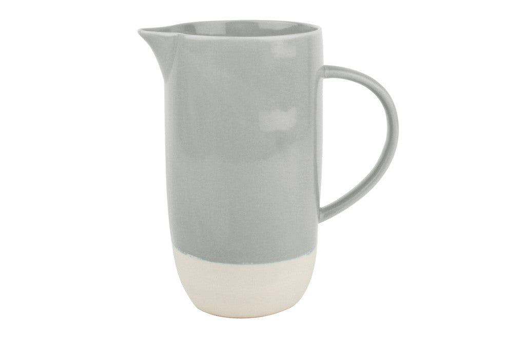 Shell Bisque Pitcher in Grey